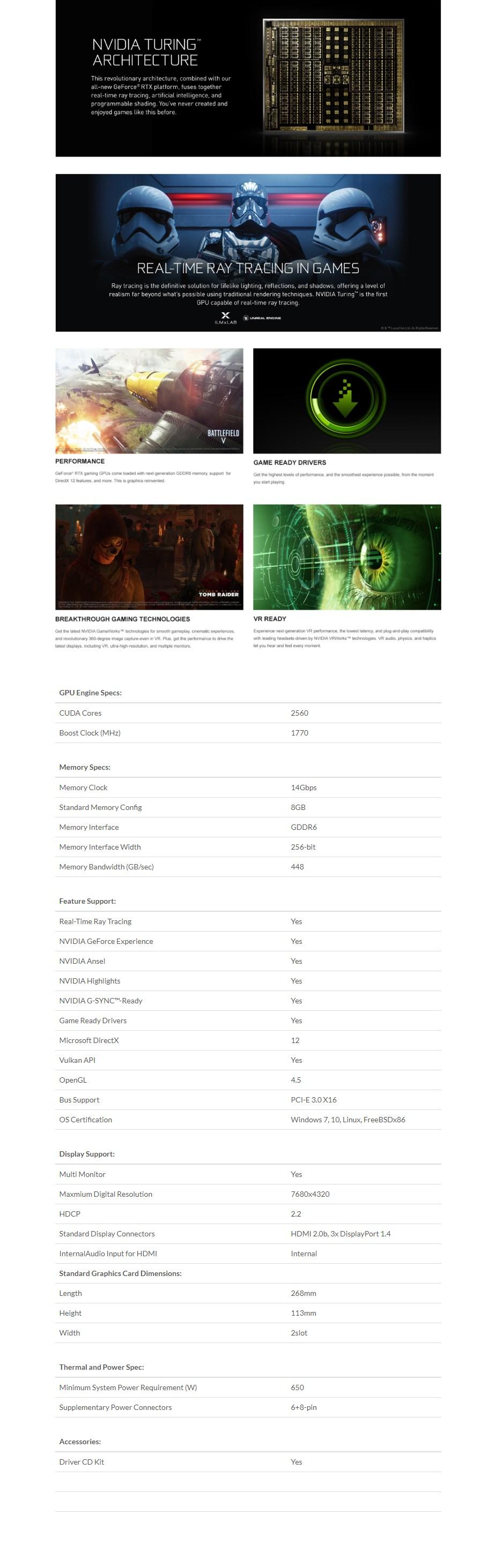 Inno3D GeForce RTX 2080 SUPER JET 8GB Video Card  - Overview 1