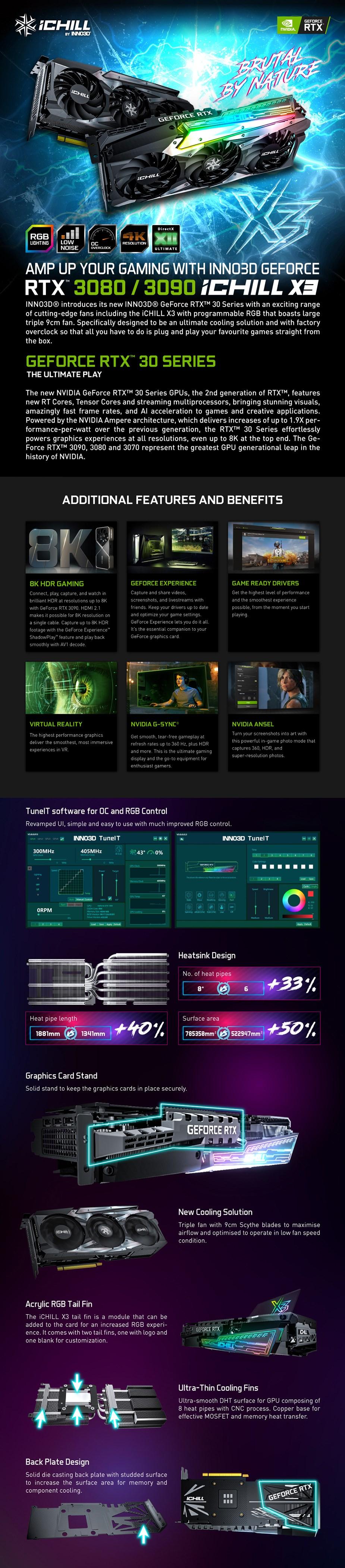 Inno3D GeForce RTX 3080 iChill X3 10GB Video Card - Overview 1