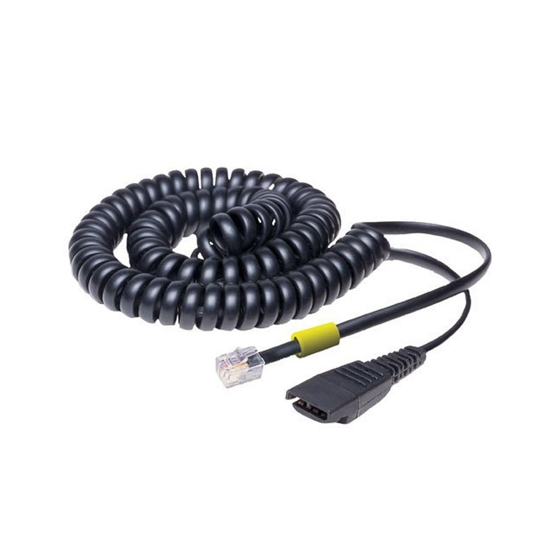 Jabra 2m Coiled Quick Disconnect to Modular RJ Cable - Overview 1
