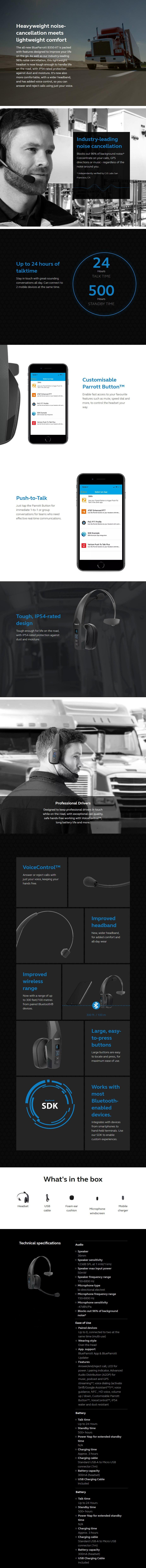 Jabra BlueParrott B350-XT Bluetooth Headset - Overview 1