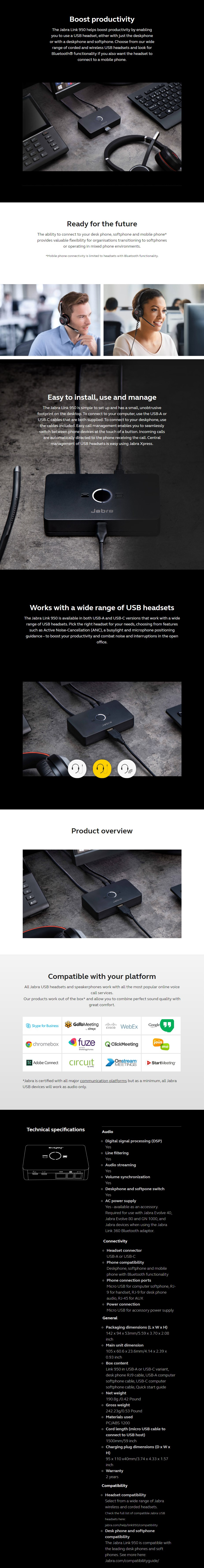 Jabra Link 950 USB-C - Overview 1