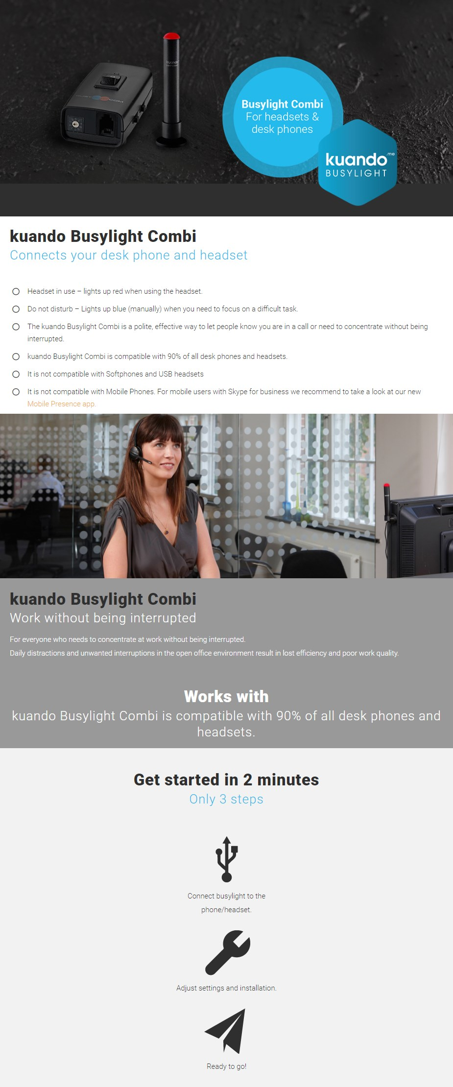 Kuando Busylight Combi - Overview 1