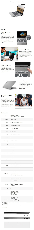 "Lenovo ThinkBook 13s 13.3"" Laptop i7-10510U 16GB 512GB SSD Radeon 630 W10P - Overview 1"