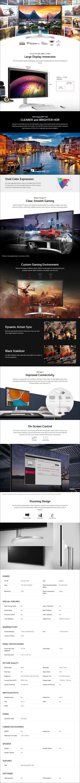 "LG 32UL750-W 32"" 4K UHD DCI-P3 HDR600 USB-C FreeSync Monitor - Overview 1"