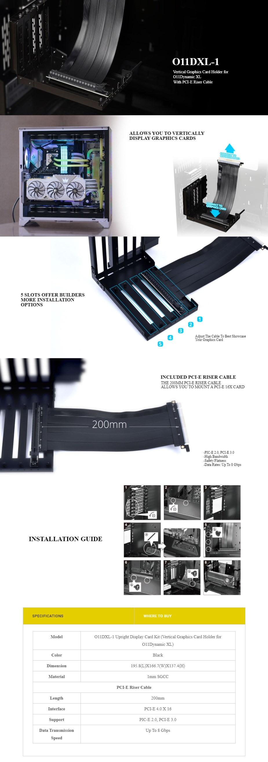 Lian Li O11DXL-1 PCI-E Riser Kit  - Overview 1