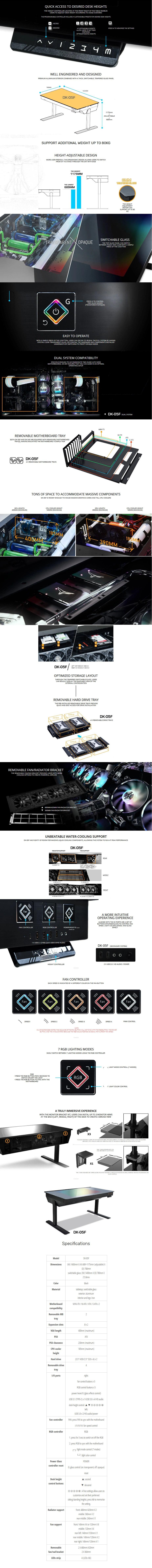 Lian-Li DK-05F Aluminium Dual System Desk Case - Black - Overview 1