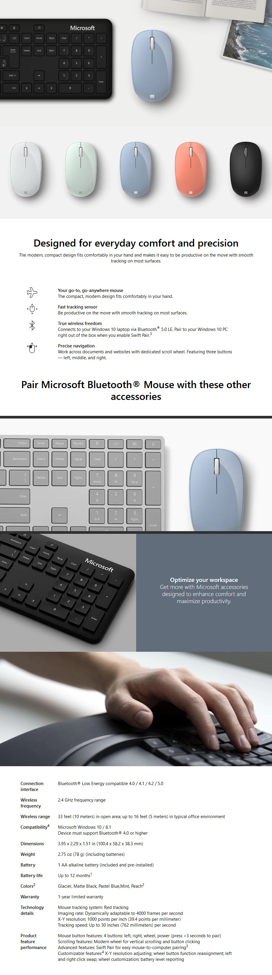 Microsoft Compact Bluetooth Mouse - Overview 1