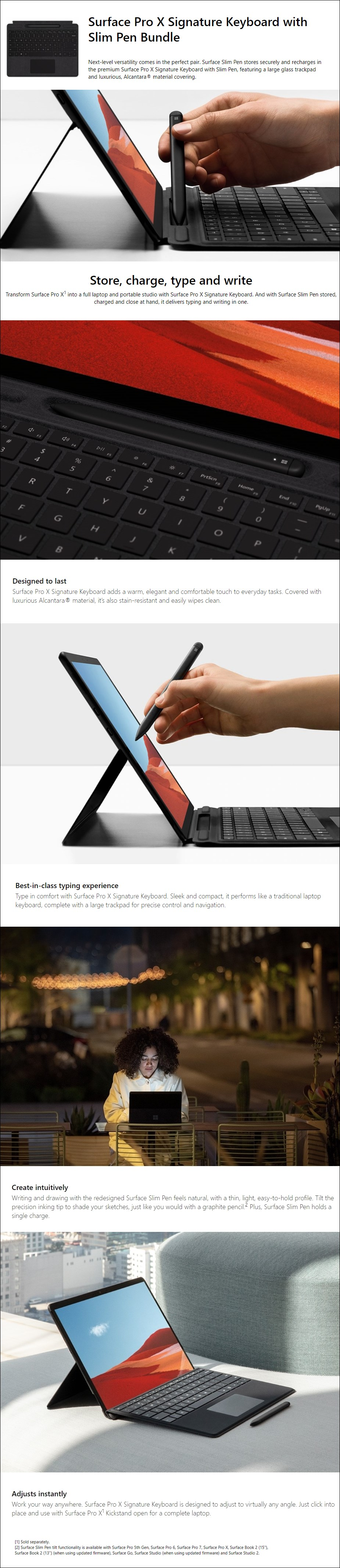 Microsoft Surface Pro X Signature Keyboard with Slim Pen - Black - Overview 1
