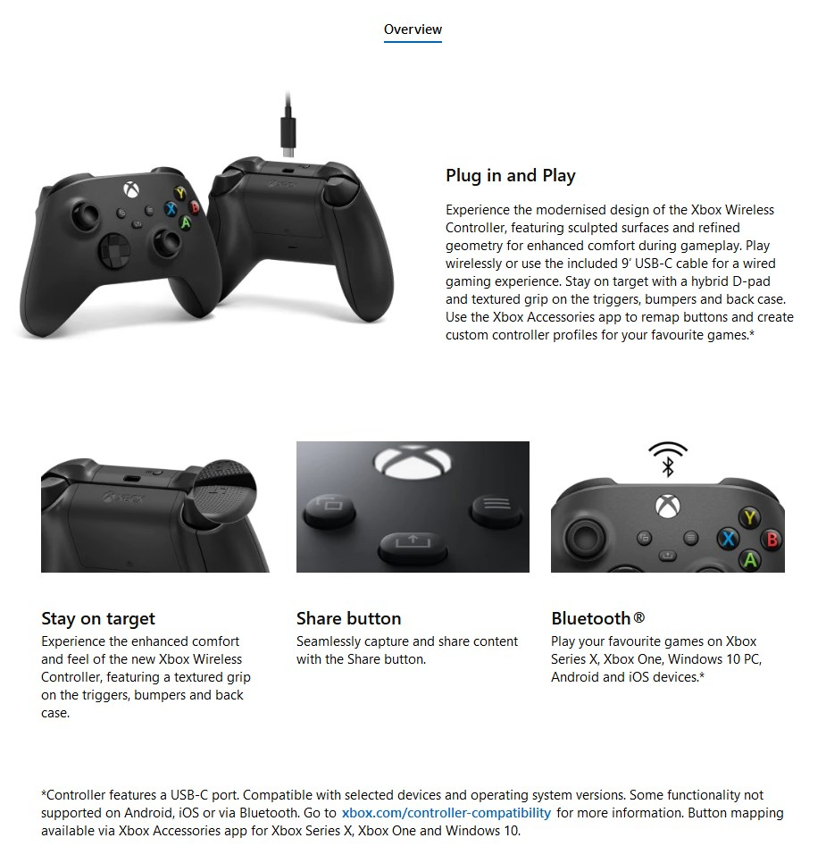 Microsoft Xbox Wireless Controller with USB-C Cable - Overview 1