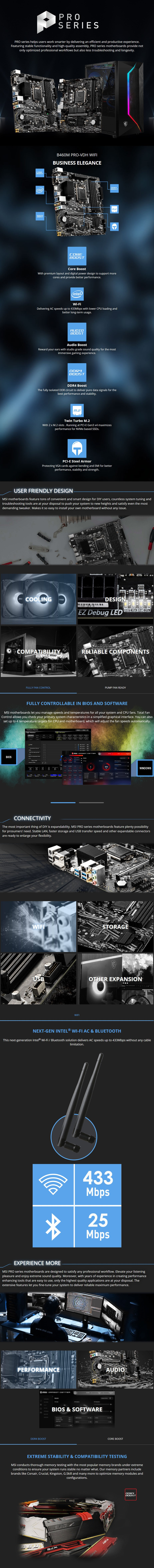 MSI B460M PRO-VDH WIFI LGA 1200 Micro-ATX Motherboard - Overview 1