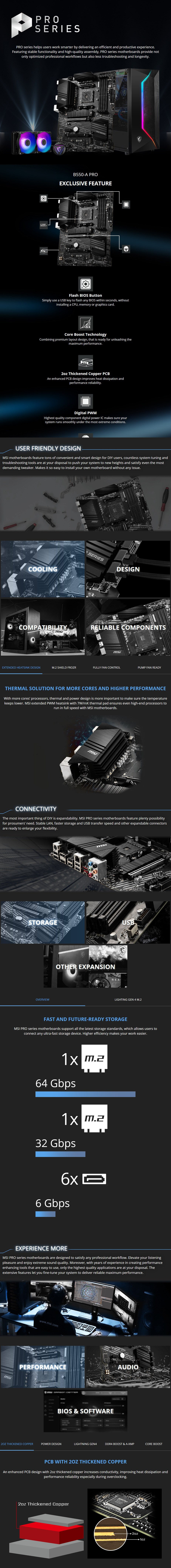 MSI B550-A PRO AM4 ATX Motherboard - Overview 1