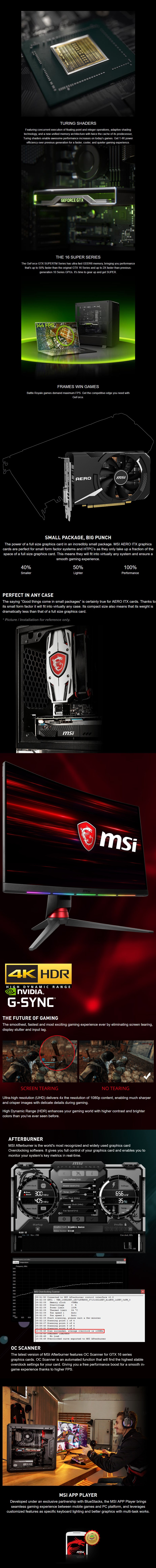 MSI GeForce GTX 1650 SUPER AERO ITX OC 4GB Video Card - Overview 1