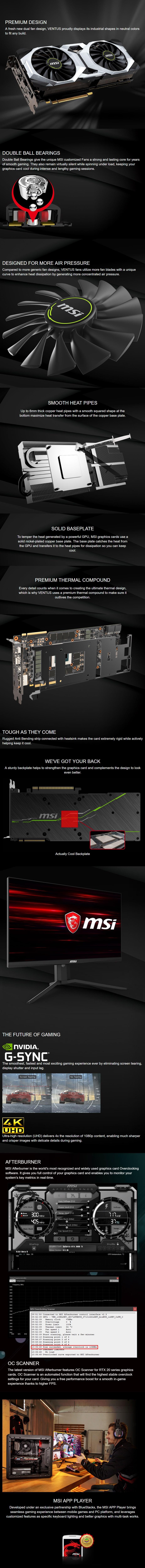 MSI GeForce RTX 2080 Ti VENTUS GP 11GB Video Card - Overview 1