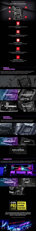 MSI MPG B550I GAMING EDGE WIFI AM4 Mini-ITX Motherboard - Overview 1