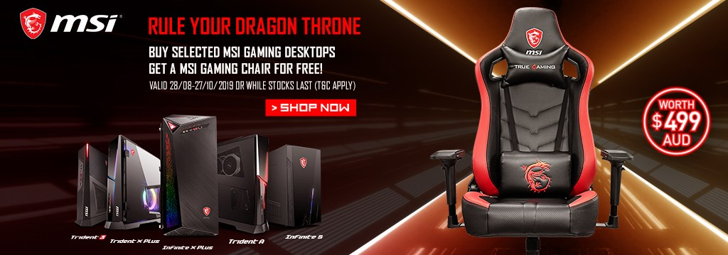 msi trident x chair promo