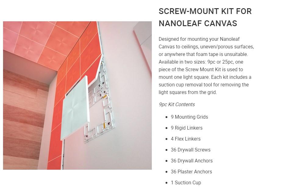 Nanoleaf Canvas Mounting Kit 9 Pack - Overview 1