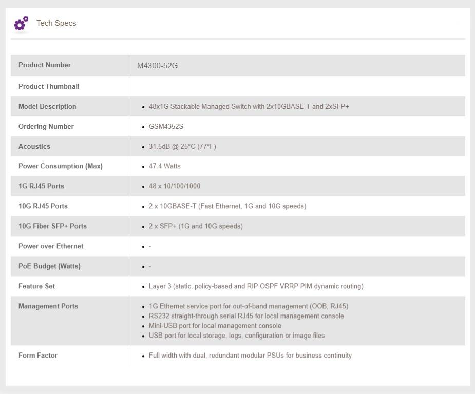 Netgear ProSAFE M4300-52G 48-Port Gigabit Managed Switch - Overview 3