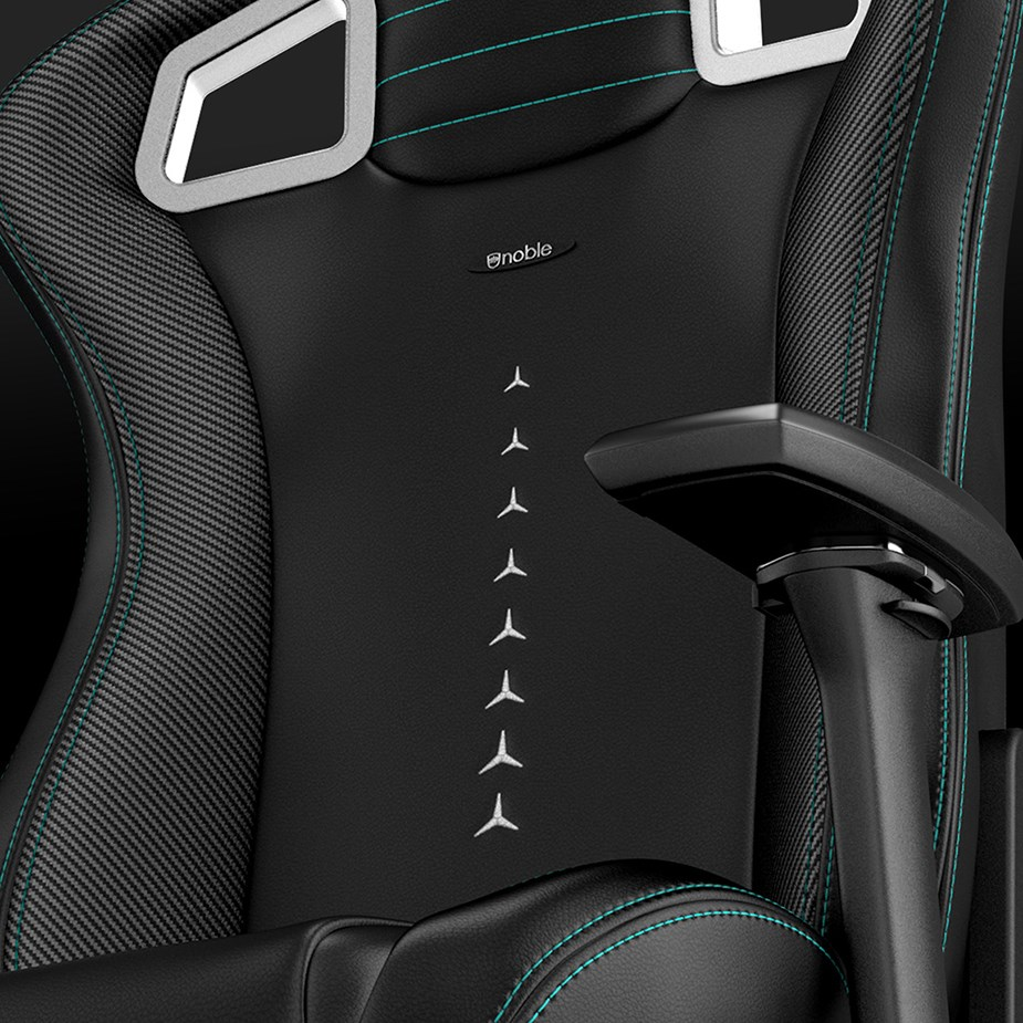 noblechairs EPIC Series PU Leather Gaming Chair - Mercedes-AMG Petronas Edition - Overview 3