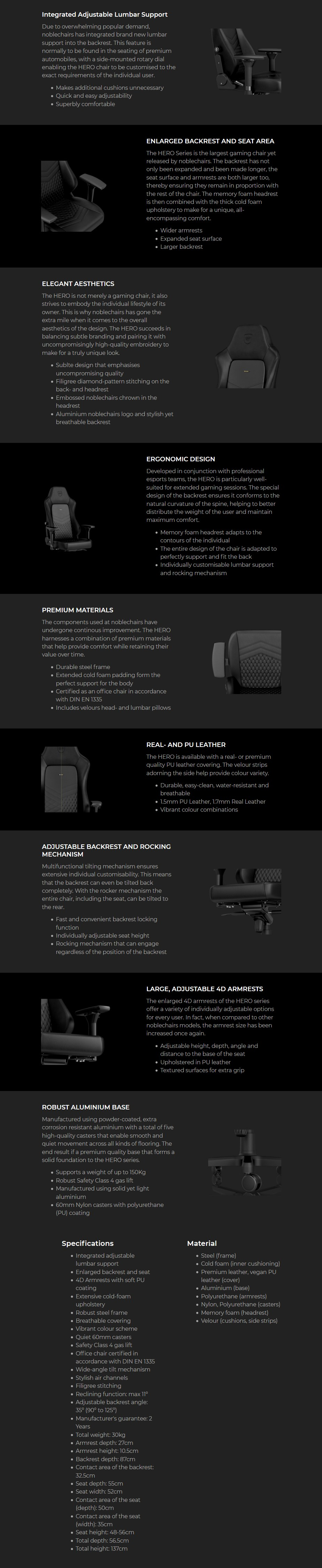 noblechairs HERO PU Leather Gaming Chair - ENCE Edition - Overview 1