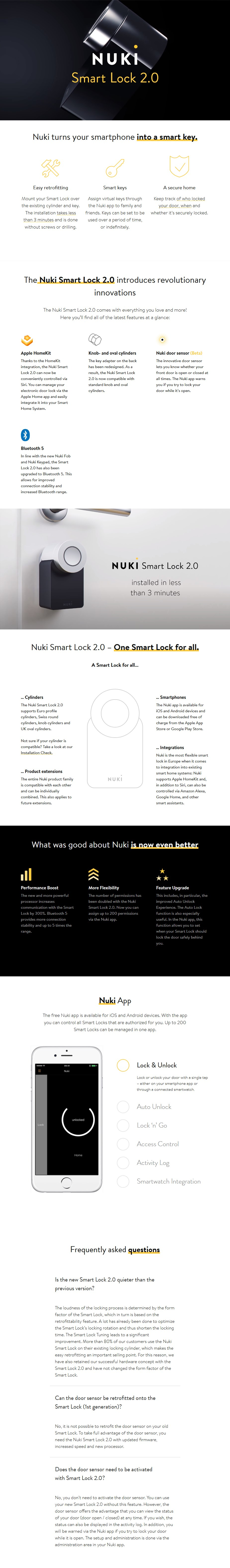 Nuki Smart Lock 2.0 - Overview 1