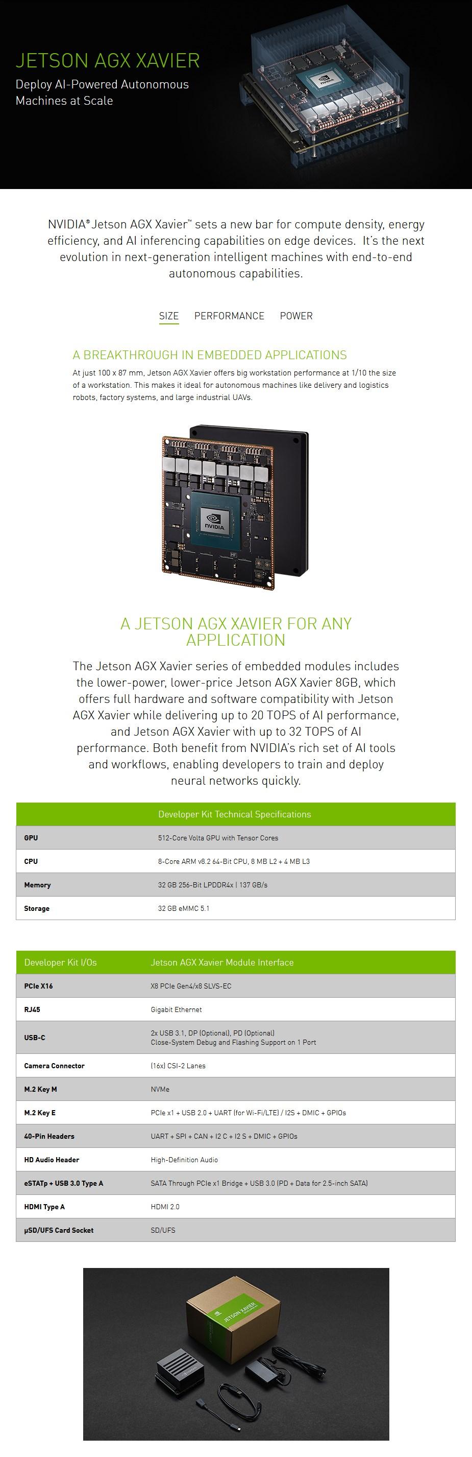 Nvidia Jetson AGX Xavier Developer Kit - Overview 1