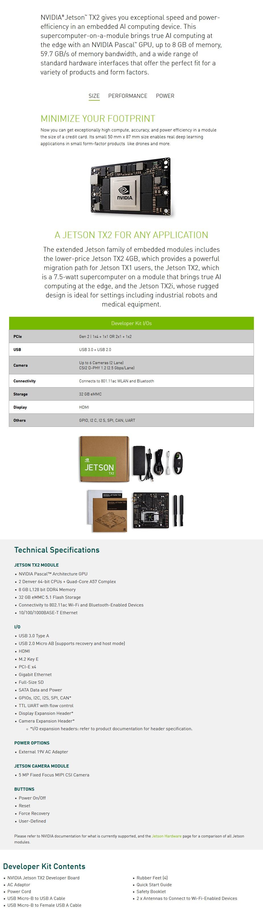 Nvidia Jetson TX2 Tegra Developer Kit - Overview 1