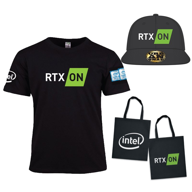 Nvidia x Intel T-Shirt + Hat + Tote Bag - Overview 1
