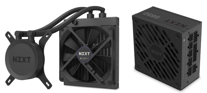 NZXT H1 Tempered Glass Mini-ITX Case with 650W PSU - Matte White - Overview 4