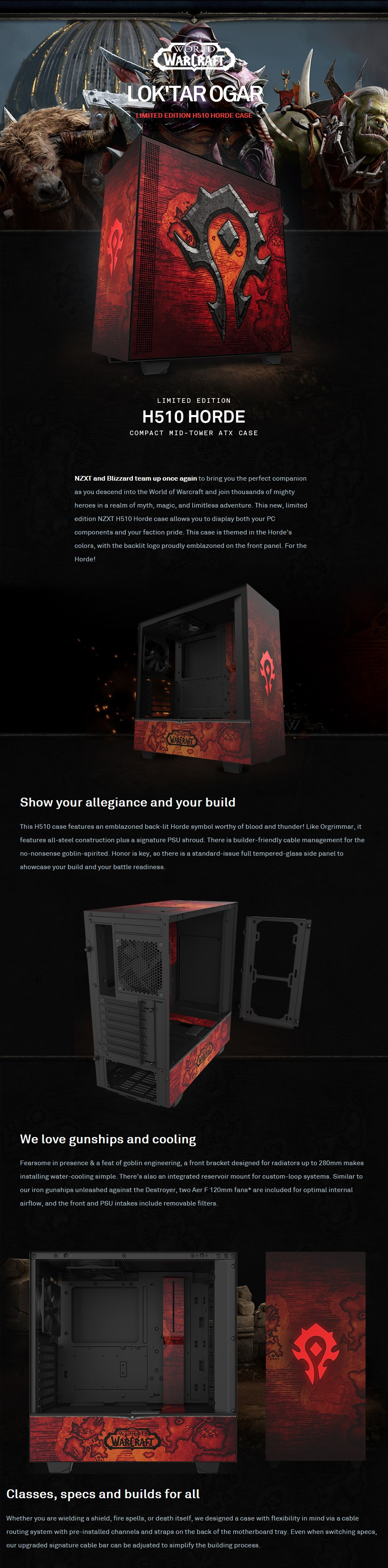 NZXT H510 Tempered Glass Mid-Tower ATX Case - Horde Edition - Overview 1