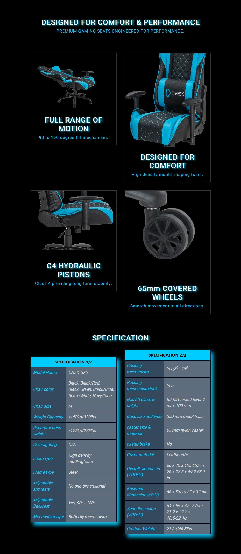 ONEX GX2 Series Office/Gaming Chair Series - Overview 2