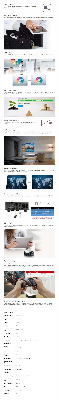 Optoma ML330 WXGA 500 Lumens Ultra-Portable Smart LED Projector - Overview 1