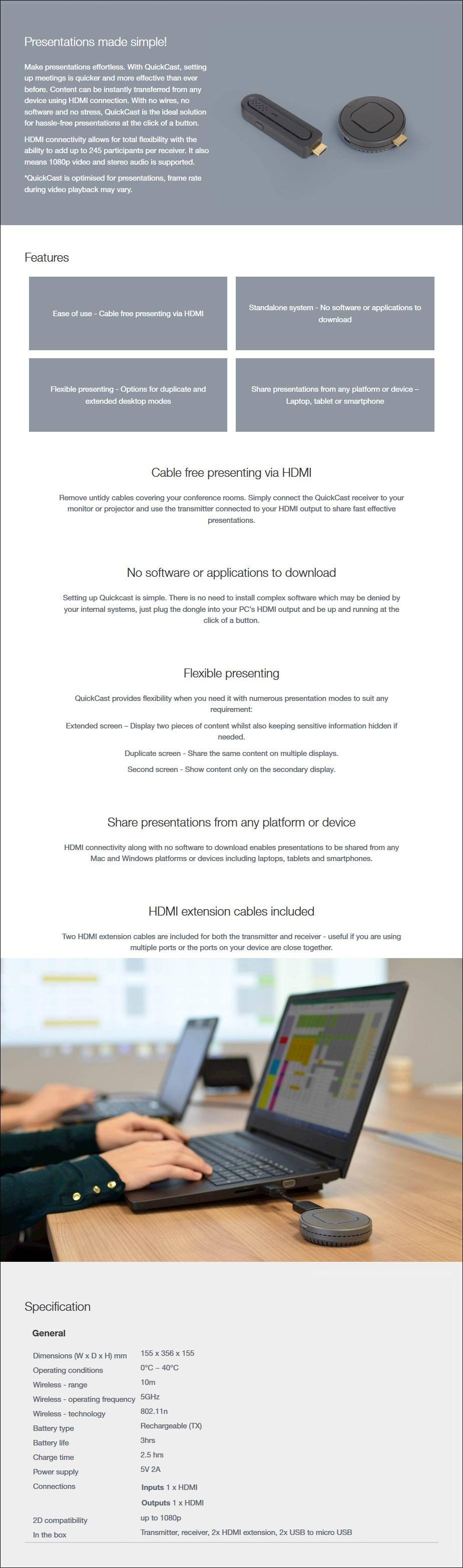 Optoma QuickCast Pro 4K Starter Kit - Overview 1