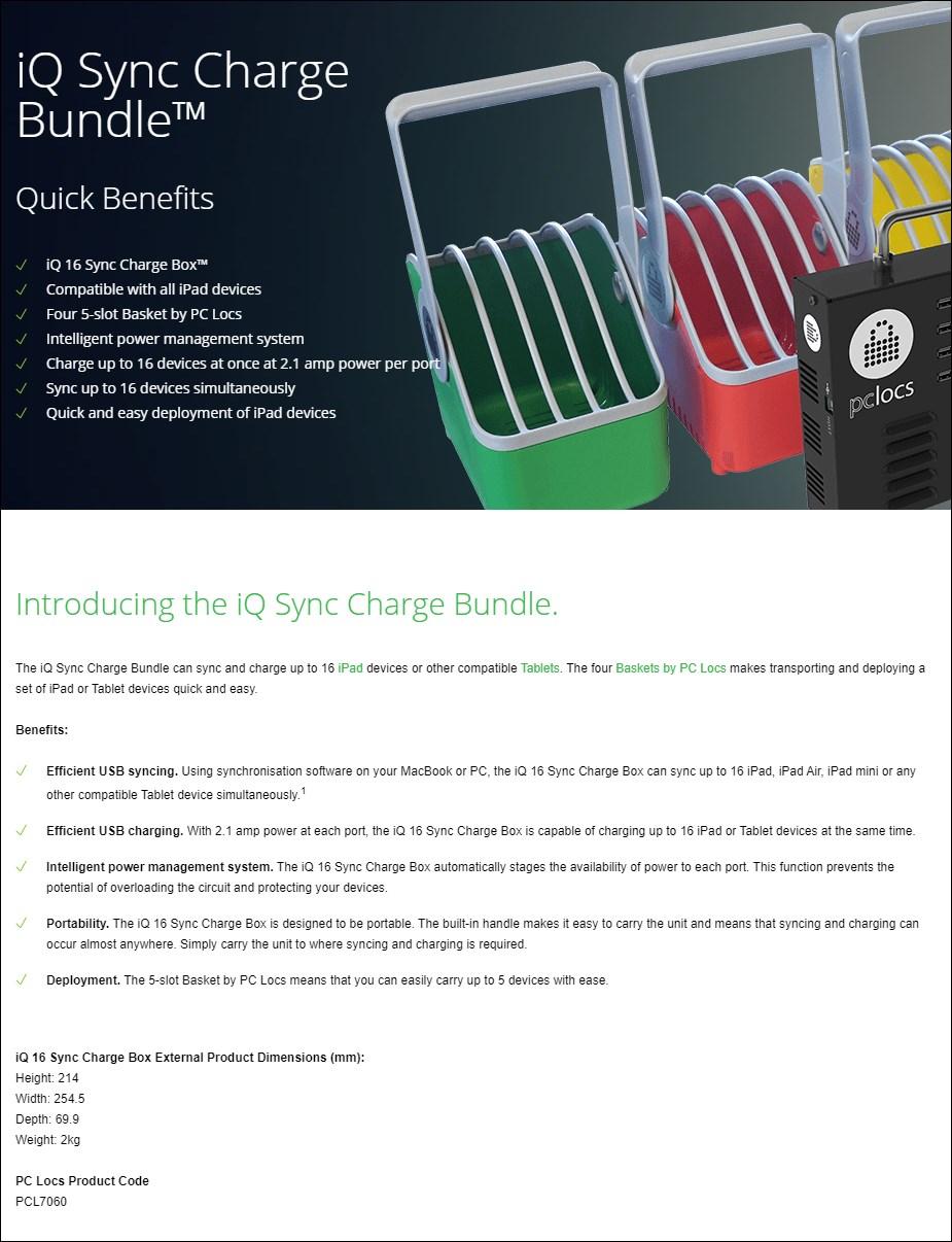 PC Locs iQ Sync & Charge Bundle - Overview 1