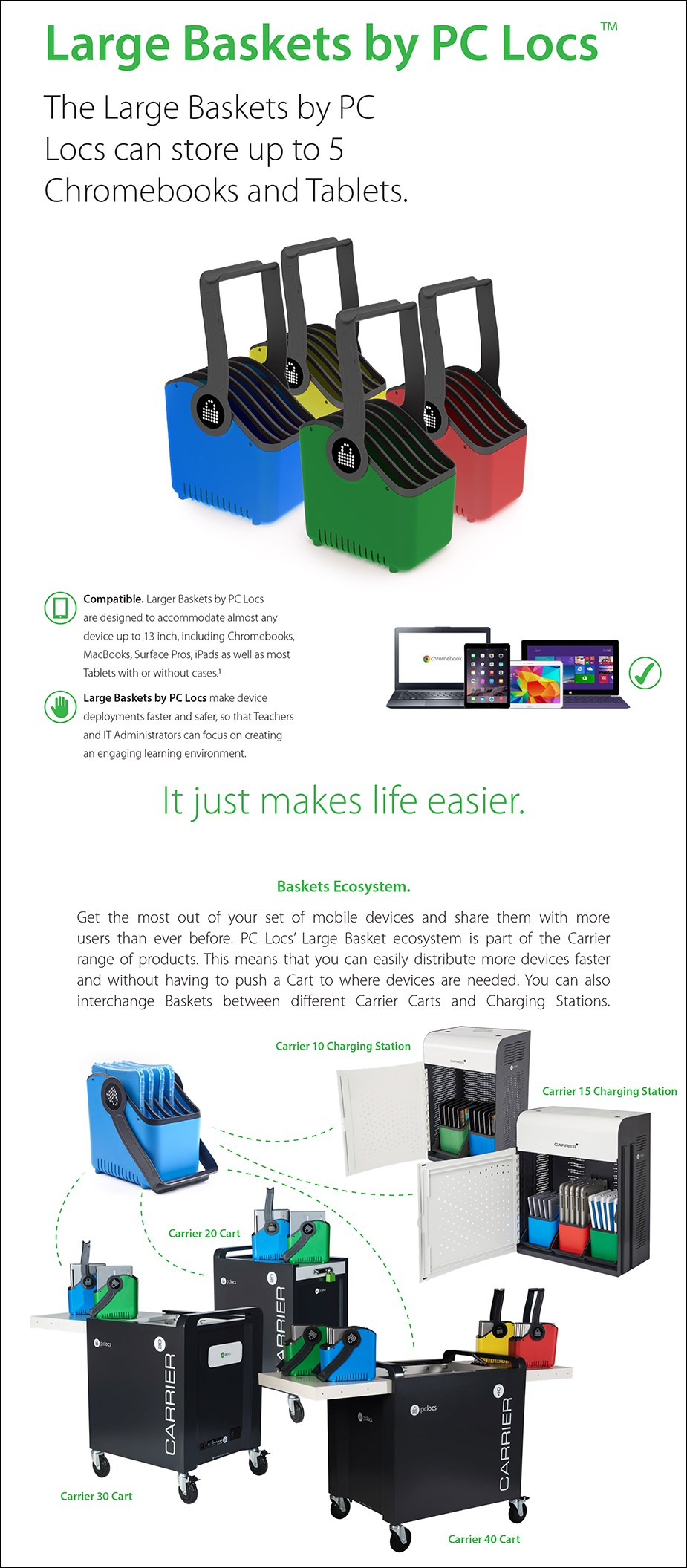 PC Locs Large Baskets by PC Locs - Overview 2