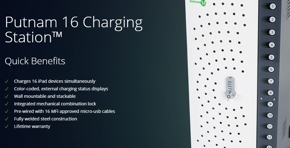 PC Locs Putnam 16 Charging Station - Micro-USB Cables - Overview 1