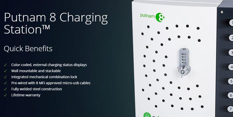 PC Locs Putnam 8 Charging Station - Micro-USB Cables - Overview 1