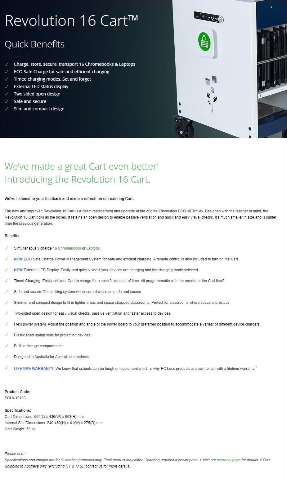 PC Locs Revolution 16 Cart - Overview 1