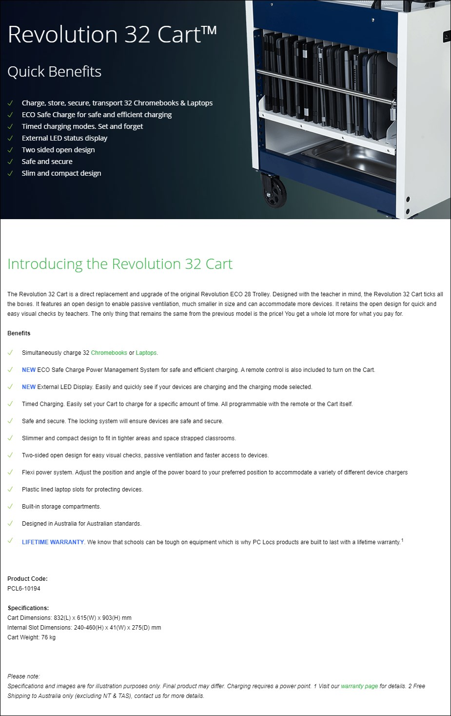 PC Locs Revolution 32 Cart - Overview 1