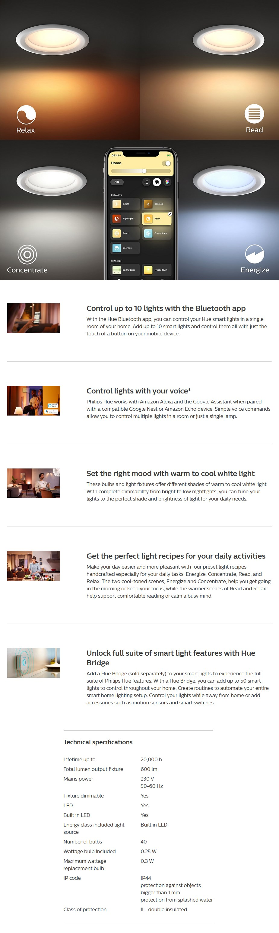 Philips Hue White Ambience Garnea LED Downlight - Overview