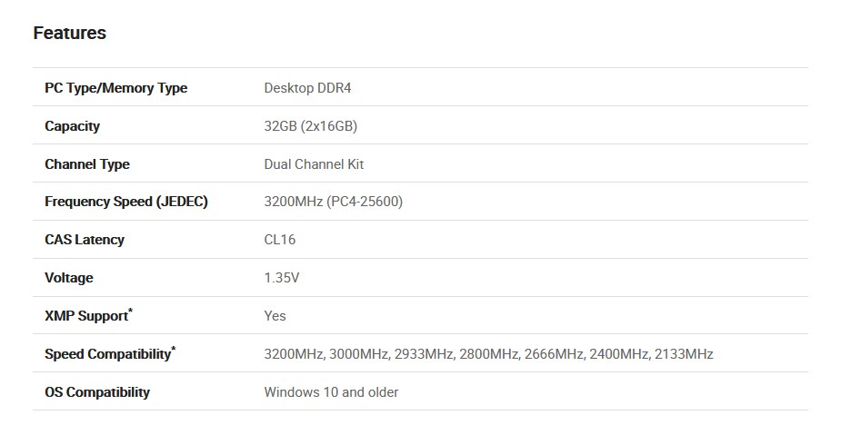 PNY XLR8 32GB (2x 16GB) DDR4 3200MHz Memory - Overview 2