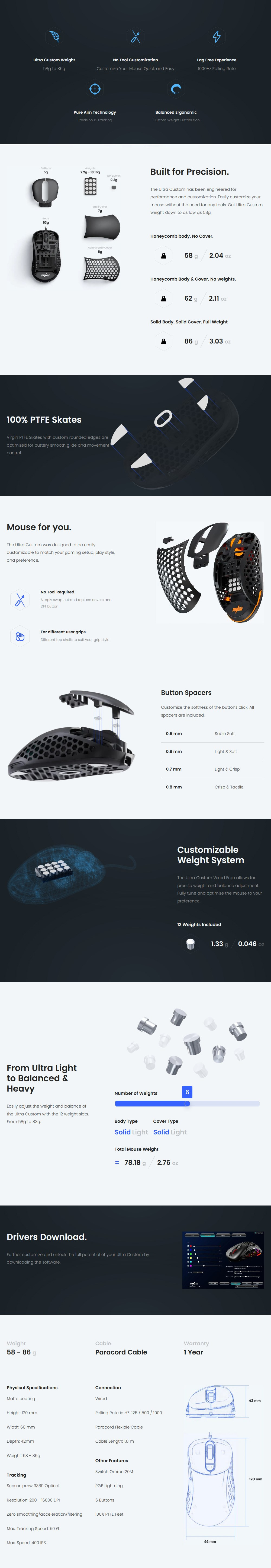 Pwnage Ultra Custom Optical Wired Gaming Mouse - Black - Overview 1