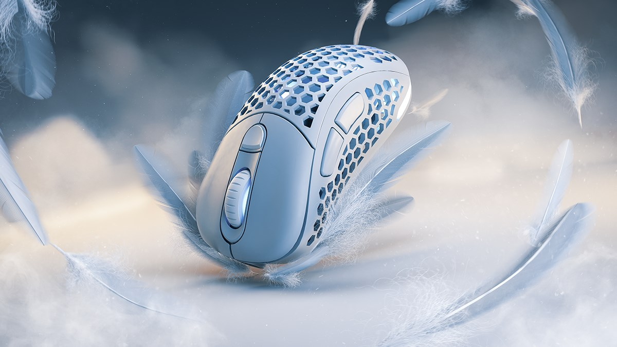 Pwnage Ultra Custom Optical Wireless Gaming Mouse - White - Overview 1