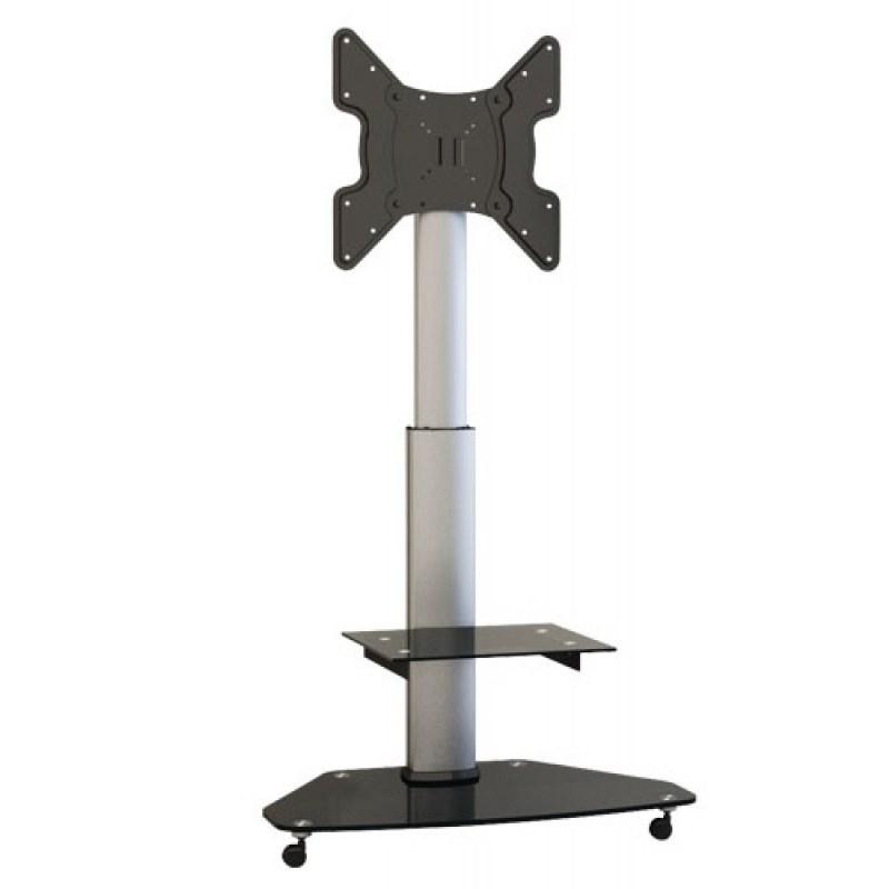 """Q-Tee QS02G 32""""-55"""" TV Tilt & Height Adjustable Mobile Cart"""