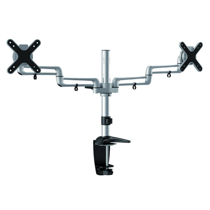 "Q-Tee LDC-T9N 13""-27"" Two Monitors Desk Mount"