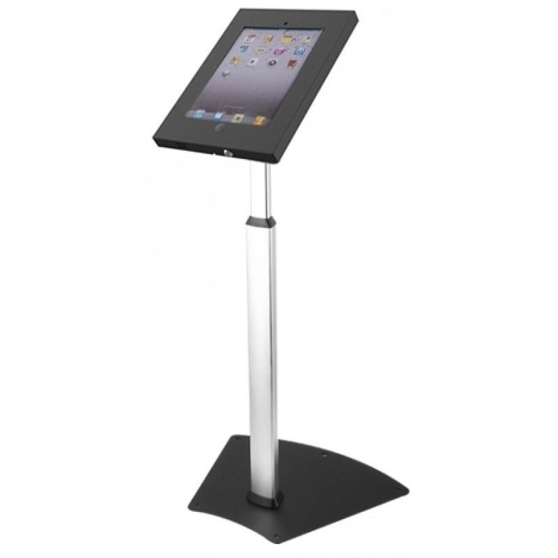 Q-Tee PAD18B iPad Height Adjustable & Tamper Proof Security Floor Stand