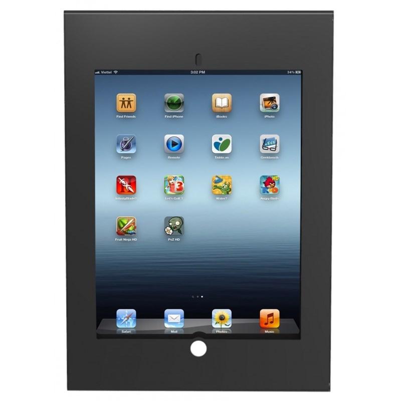"Q-Tee PAD26B 12.9"" iPad Pro Anti-theft Steel Mount with Lock - Black"