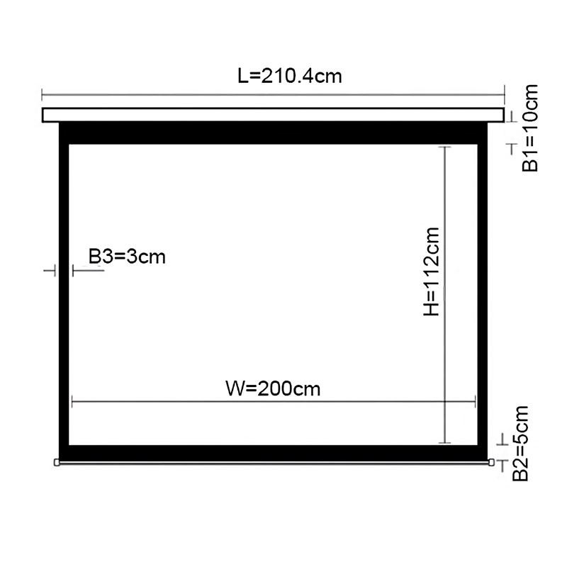 "Q-Tee PBMA108 Aluminium Manual Screen With Auto-Lock 108""/16:9 - Overview 1"