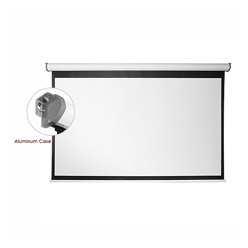 "Q-Tee PMAA108 Aluminium Electric Screen 108""/16:9 - Overview 1"