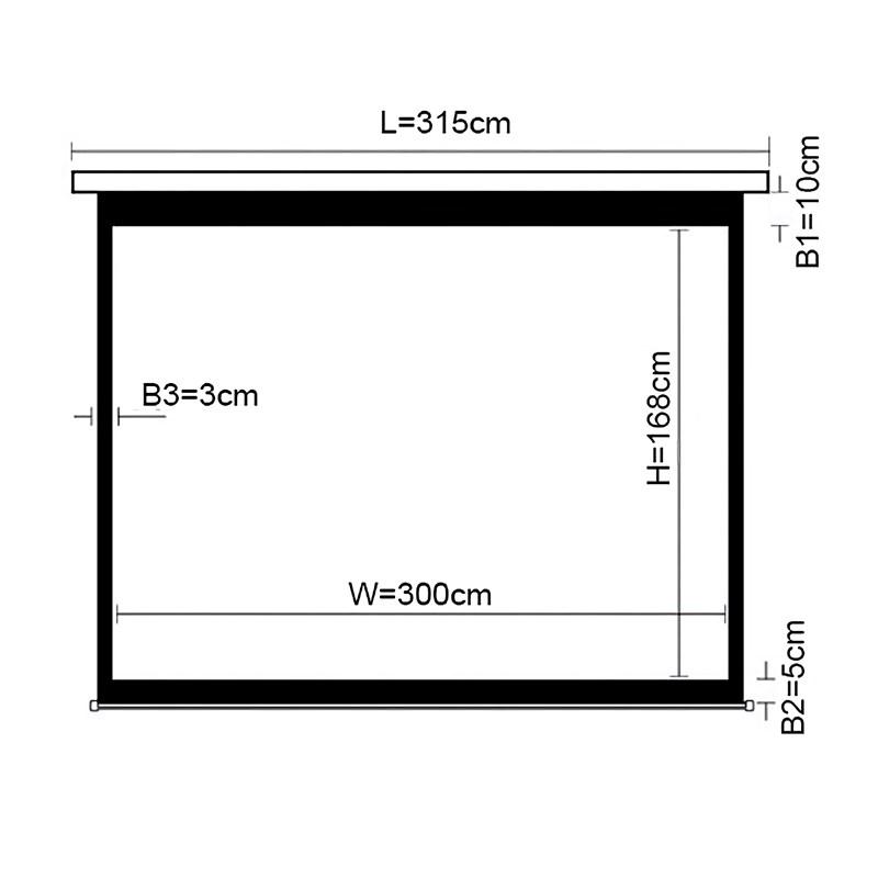 "Q-Tee PMAA135 Aluminium Electric Screen 135""/16:9 - Overview 1"