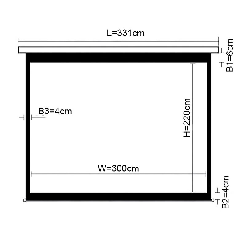 """Q-Tee PSAC150 Standard Electronic Projection Screen 150""""/4:3 - Overview 1"""